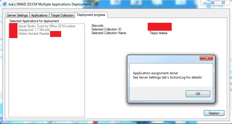 SMAD (SCCM Multiple Applications Deployment) tool